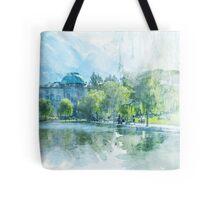 Pond and Park Print Tote Bag