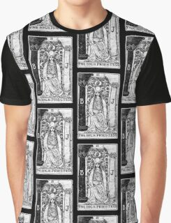 The High Priestess Tarot Card - Major Arcana - fortune telling - occult Graphic T-Shirt