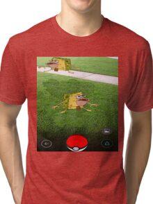 Pokemon Spongebob Tri-blend T-Shirt