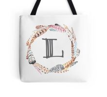 Feather Monogram L Tote Bag