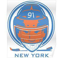 New York Hockey T-Shirt Poster