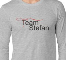 Team Stefan Black Stefan salvatore Long Sleeve T-Shirt