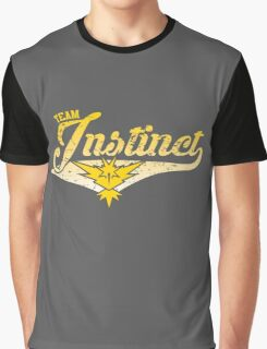Pokemon Go - Team Instinct Distressed Athletic Logo Graphic T-Shirt