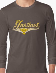 Pokemon Go - Team Instinct Distressed Athletic Logo Long Sleeve T-Shirt