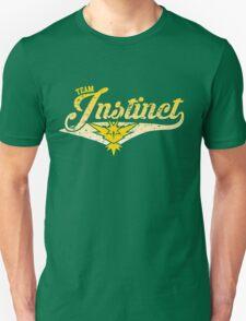 Pokemon Go - Team Instinct Distressed Athletic Logo Unisex T-Shirt