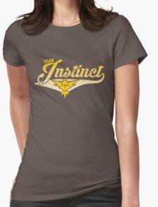 Pokemon Go - Team Instinct Distressed Athletic Logo Womens Fitted T-Shirt