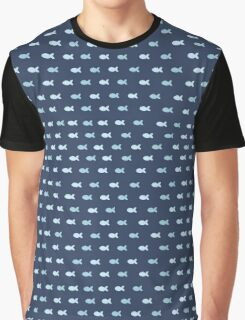 small blue fish Graphic T-Shirt