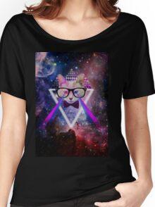 Illuminati space cat warrior Women's Relaxed Fit T-Shirt