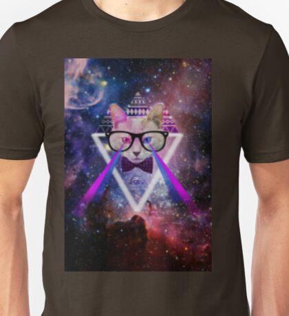 Illuminati space cat warrior Unisex T-Shirt