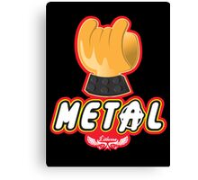 Metal - Hey Ho Lego Canvas Print