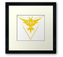 Pokemon Go Team Instinct (Yellow Team) Framed Print