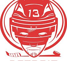 Detroit Hockey T-Shirt by pcstuff