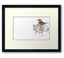 OUR BRAINS ARE SICK BUT THAT'S OKAY Framed Print