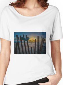 Flip Flops on a dune fence Women's Relaxed Fit T-Shirt