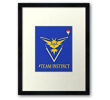 Team Instinct Pokemon Go  Framed Print