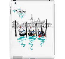 Gondolas in Venice lagoon, Italia iPad Case/Skin