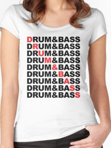 Drum And Bass Music Quote Women's Fitted Scoop T-Shirt