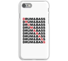 Drum And Bass Music Quote iPhone Case/Skin