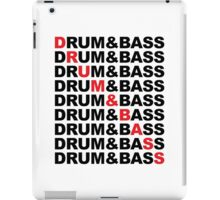 Drum And Bass Music Quote iPad Case/Skin