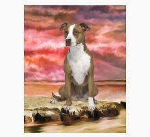 Colorful Pitbull dog Portrait Art Painting Unisex T-Shirt