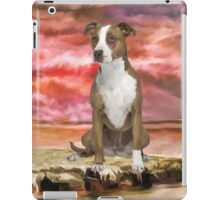 Colorful Pitbull dog Portrait Art Painting iPad Case/Skin