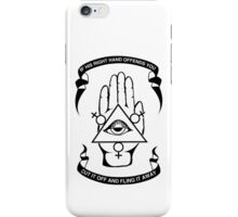 If His Right Hand Offends You, Cut It Off And Fling It Away - Black iPhone Case/Skin