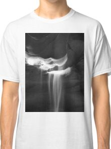 Flowing Sand in Antelope Canyon ~ Black & White Classic T-Shirt