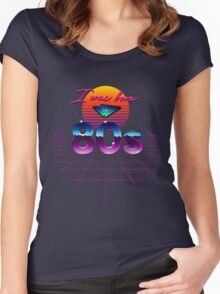 I was born in 80s Women's Fitted Scoop T-Shirt