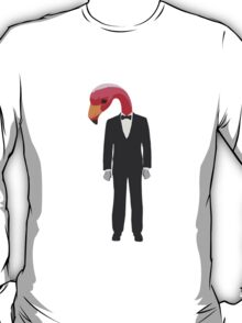 Flamingo In A Suit T-Shirt