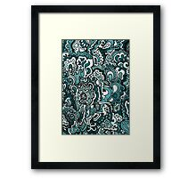 Gray Scale Doodle Framed Print