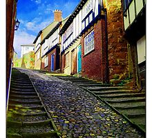 The old street by Francisco Martin Falcon