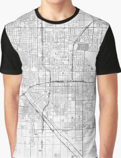Fresno Map Line Graphic T-Shirt