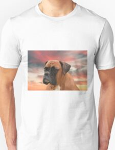 Cute Boxer Dog Water Color Oil Painting Art Unisex T-Shirt