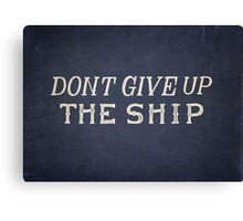 Commodore Perry Dont Give Up The Ship Canvas Print