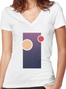Tatooine Sky Women's Fitted V-Neck T-Shirt