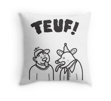 Crazy Party Throw Pillow