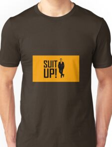 """Suit Up"" with Barney Unisex T-Shirt"