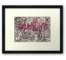 Adventure Zentangle Framed Print