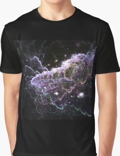 Purple Cloud - Abstract Fractal Artwork Graphic T-Shirt