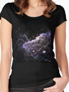 Purple Cloud - Abstract Fractal Artwork Women's Fitted Scoop T-Shirt