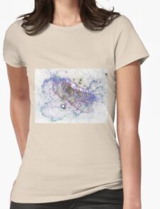 Blue Sky - Abstract Fractal Artwork Womens Fitted T-Shirt