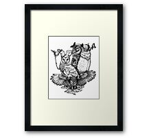 Goatowls (b&w) Framed Print