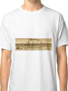 Hamburg Vintage map.Geography Germany ,city view,building,political,Lithography,historical fashion,geo design,Cartography,Country,Science,history,urban Classic T-Shirt