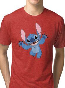 Funny Happy Stitch Tri-blend T-Shirt