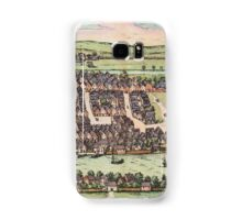 Haderslev Vintage map.Geography Netherlands ,city view,building,political,Lithography,historical fashion,geo design,Cartography,Country,Science,history,urban Samsung Galaxy Case/Skin