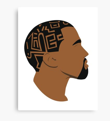I love you like Kanye loves Kanye Canvas Print