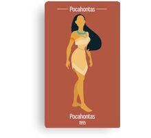 Pocahontas Illustration Canvas Print