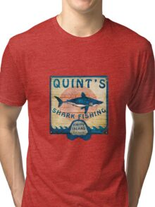 Quint's Shark Fishing Tri-blend T-Shirt