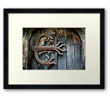 Grungy Metal Claws Framed Print