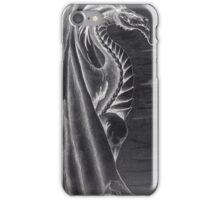 Black and White Dragon. iPhone Case/Skin